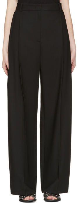 McQ Black Kilt Pleat Trousers