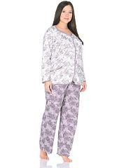 Пижама NAGOTEX  Пижама-брюки и кофточка выполена из натуральной хлопковой ткани с цветочным принтом.. Пижама NAGOTEX промокоды купоны акции.