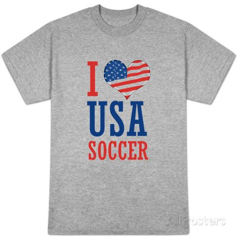 I Love USA Soccer (World Cup) Vêtements sur AllPosters.fr
