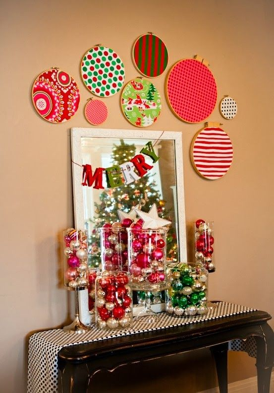 Attractive Apothecary Jars Filled With Vintage Glass Balls ~ Holiday Fabric Embroidery  Hoops ~ Love!  Iu0027ve Done The Jars With The Glass Ornaments And It Looks  Lovely. Pictures