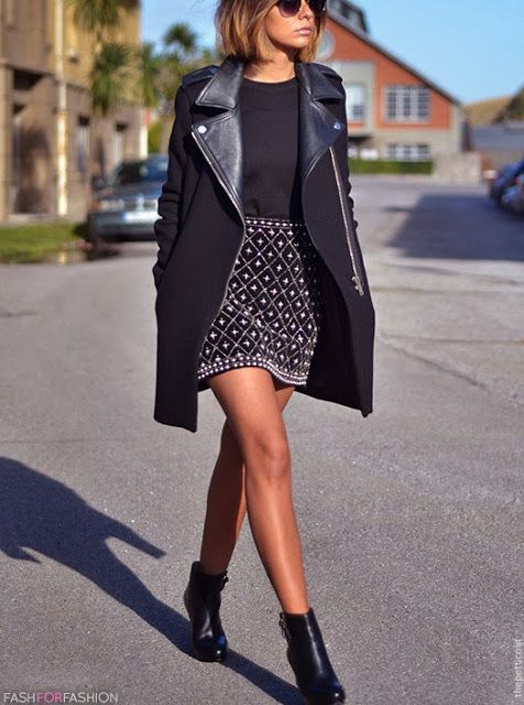Beautiful Uterqüe ankle boots, Zara biker coat!