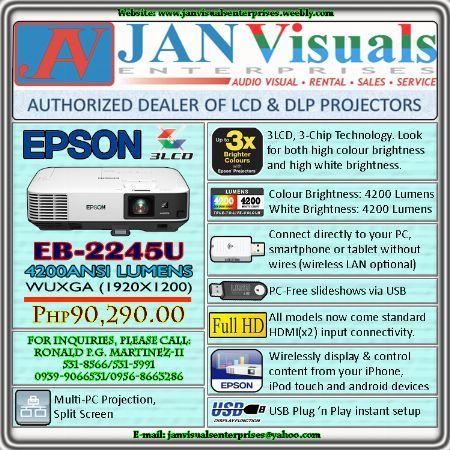 epson 4200 ansi lumens projector, EPSON EB2245U, epson full hd projector, epson lcd projector, -- All Electronics -- Metro Manila, Philippines