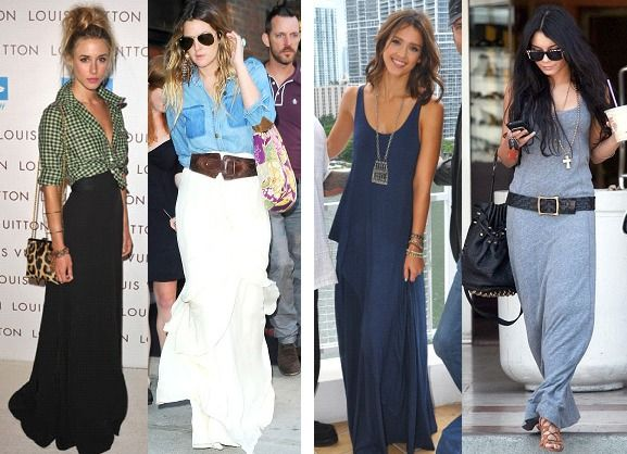 17 Best images about Maxi skirt ideas on Pinterest  Denim jackets ...