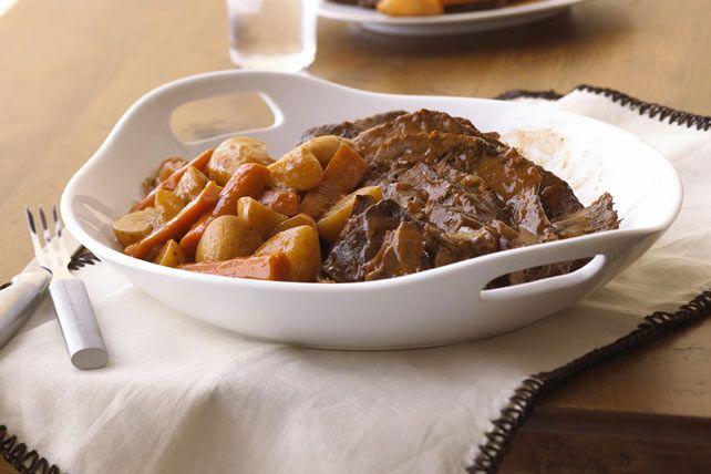 Même avec un horaire chargé, vous pouvez servir un repas chaud et réconfortant ce soir et un délicieux sandwich au bœuf demain!