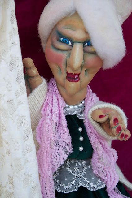 Witch from Hansel and Gretel hand-puppet http://marysmerryland.blogspot.gr