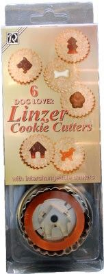 Dog Bone Cookie Cutters Linzer Set (6 dog related shapes)