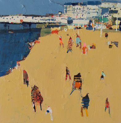 becky blair * artist - paintings: summer town