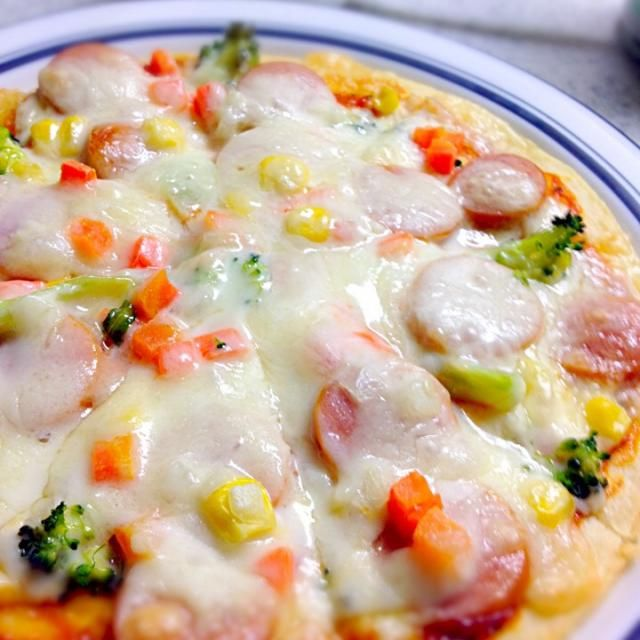 チーズのセールに行って来ました! …で、ピザクラストもゲットし、早速ピザ! - 21件のもぐもぐ - ピザ!ピザ!ピザ! by maunten