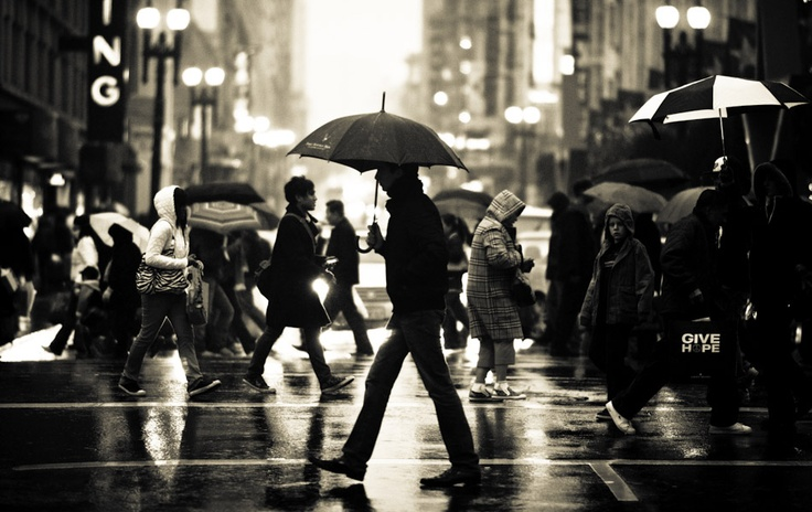 More inspiration...: New York Cities, White Photography, Rainy Day, Black And White, Navid Barati, Rain Dance, Cities Life, San Francisco, Street Photography