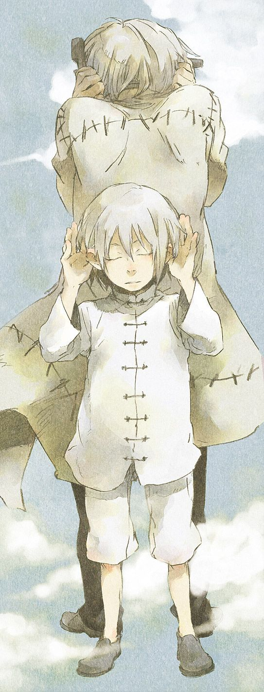 SOUL EATER, Franken Stein, I love how as he's young he's listening and now he's trying to shut it out.