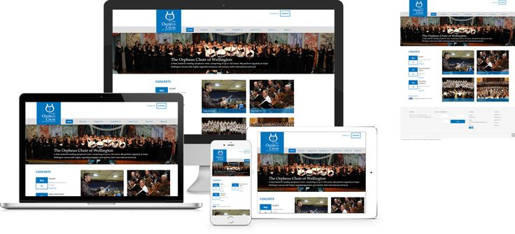 Forge Online creates yet another stunning example of contemporary and functionally powerful Open Source website design for The Orpheus Choir of Wellington.