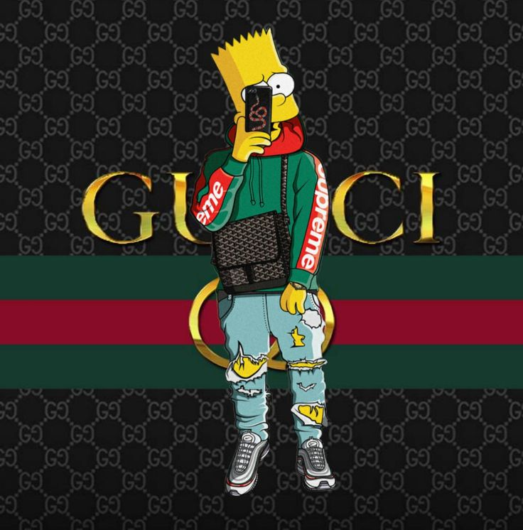 Bart Simpson Gucci x Supreme x Nike Air Max   Supreme ...