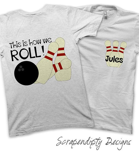 Bowling Party Pack Iron on Transfer - Personalized Bowling Shirts / Bowling Birthday Party Favors / Kids Clothing Shirts / Printable Iron on