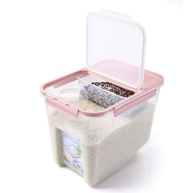Online Shop Hipsteen 10kg Plastic Kitchen Sealed Box Large Capacity Food Storage Boxes Bean Rice Grain St Grain Storage Food Storage Boxes Kitchen Food Storage