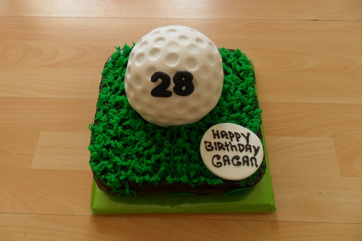 Golfbal taart  www.ibakeacake.nl