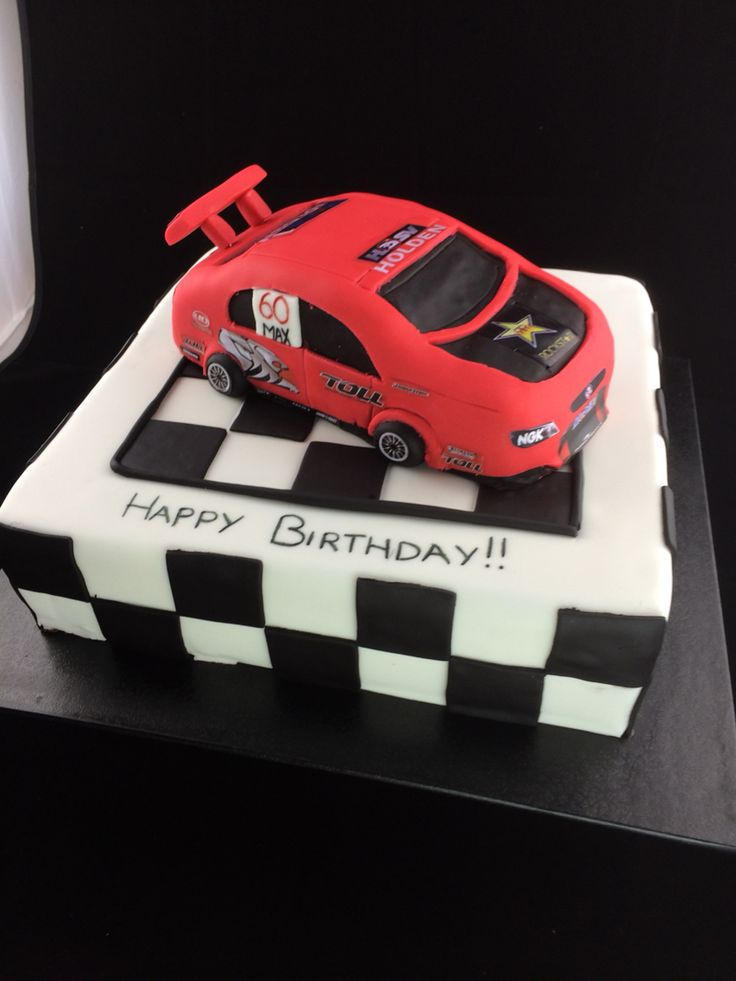 V8 super cars birthday cake.