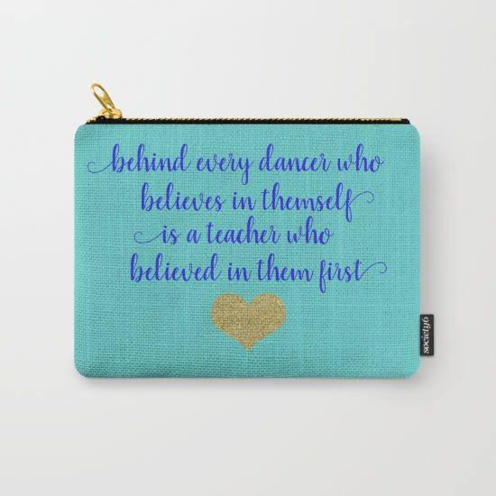 Dance Teacher Gifts For Her, Gift For Dancer, Dance Recital Gift, Makeup Bag Large Zipper Pouch, Ballet Gifts, Teacher Appreciation Gift