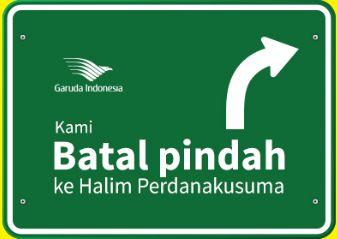 Garuda Indonesia Batal ke Halim – Maskapai udara plat merah Garuda Indonesia membatalkan niatnya untuk terbang melalui Halim. Setelah melakukan kajian ulang, rencana memindahkan sebagian slot penerbangan ke bandara Halim Perdanakusuma