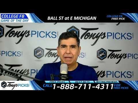 Ball St Cardinals vs. Eastern Michigan Eagles Free NCAA Football Picks a...