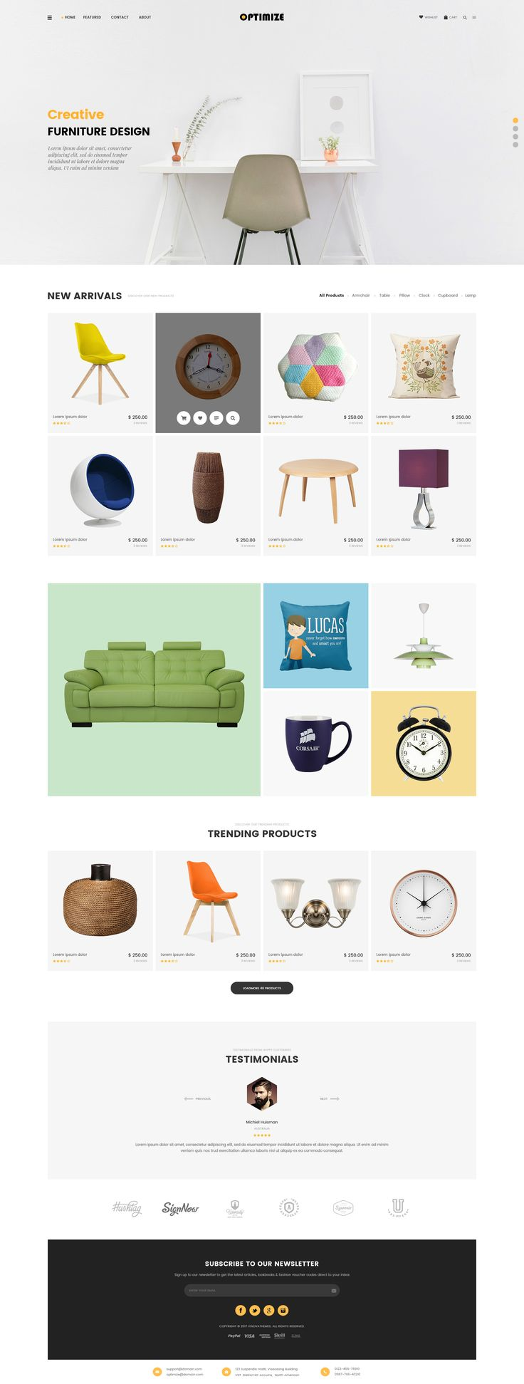"""Check out my @Behance project: """"Optimize - Minimalist Ecommerce Template"""" https://www.behance.net/gallery/53437899/Optimize-Minimalist-Ecommerce-Template"""