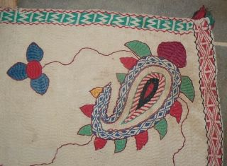 Beautiful Extra Large Antique Kantha Quilt. From the West Bengal region of India. 84 x 61 inches. Gorgeous, with fish, flowers and botehs in the corners. For all of the newly acquired  ...