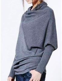 Dropping turtleneck Knitted Sweater: Lights Grey, Fashion Style, Pullover Sweaters, Grey Collap, Style Pinboard, Shoulder Batwing, Sheinsid Lights, Sweaters 41 84, Batwing Pullover