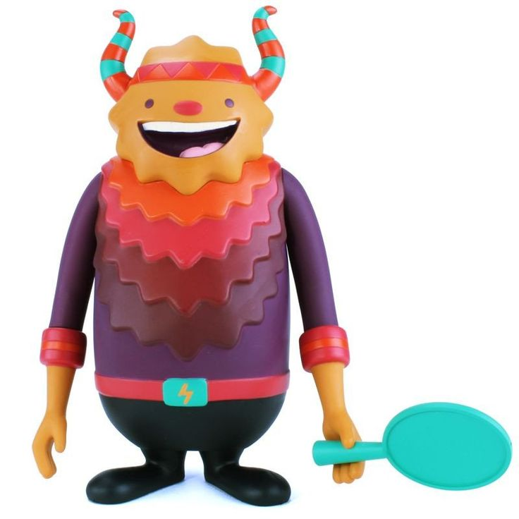 Designed by Colombian-born LA-based illustrator Camilo Bejarano, Sundial is a super fun 7 inch vinyl art figure. Produced by Hong Kong-based toymakers Crazylabel, Sundial comes equipped with his very own ping-pong paddle and ball, a must for all fun-loving monster types! His strength is light, his weakness is water...and his special power: hypnotism!