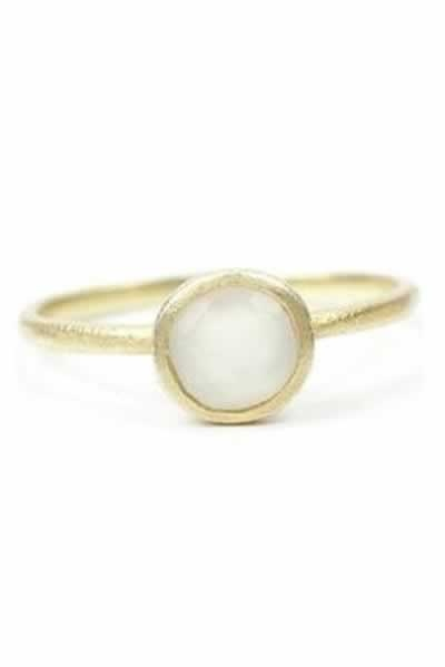 cute and delicate moonstone ring