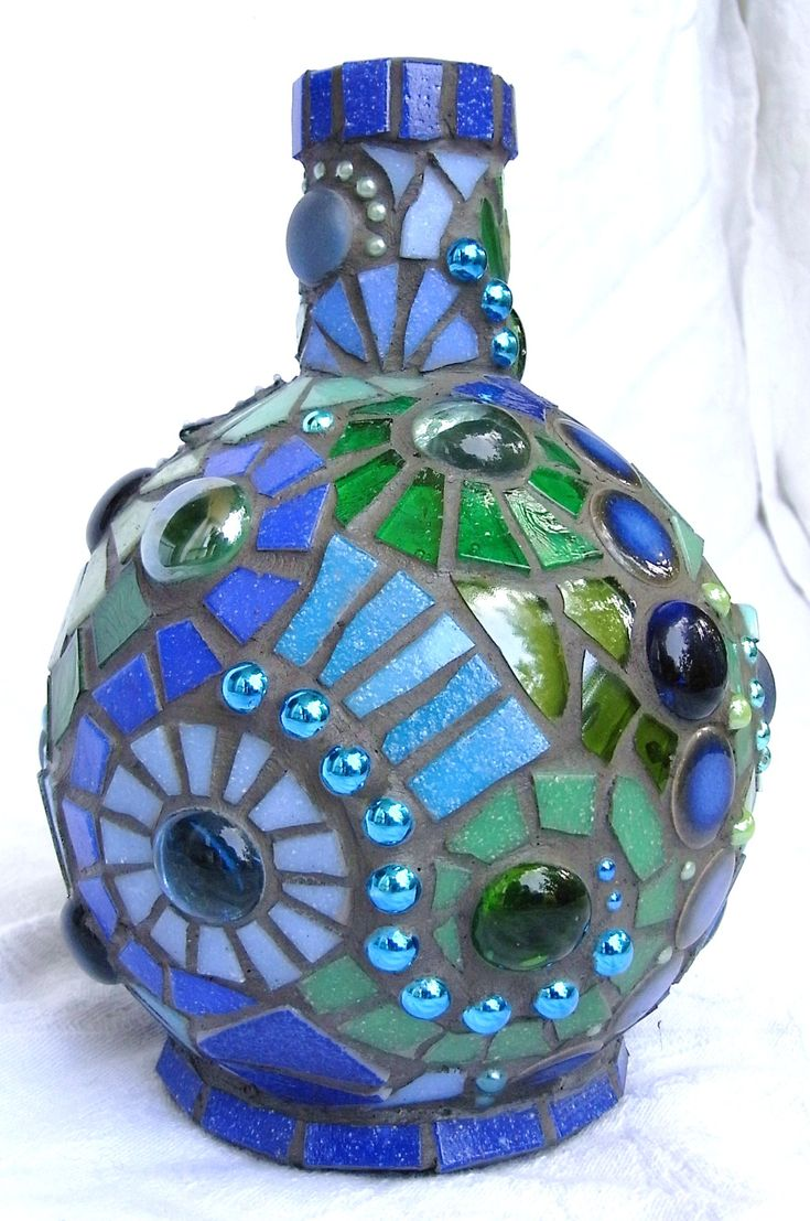 frances green poseidon mosaic bottle mosaic designsmosaic ideaspatron