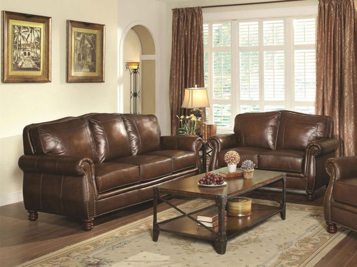 New Living Room Set. CHESTER  Traditional Genuine Brown Leather Sofa Couch Set New Living Room Best 25 sofa set ideas on Pinterest room decor for