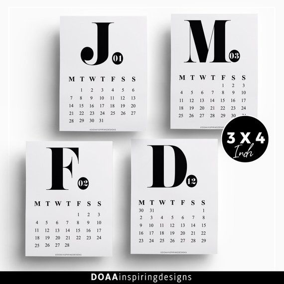 2019 minimalist printable calendar  monthly advent