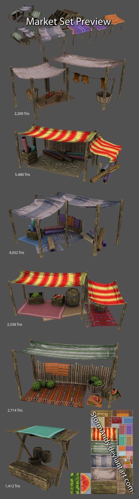 Market Stalls - Preview by StormAndy on deviantART