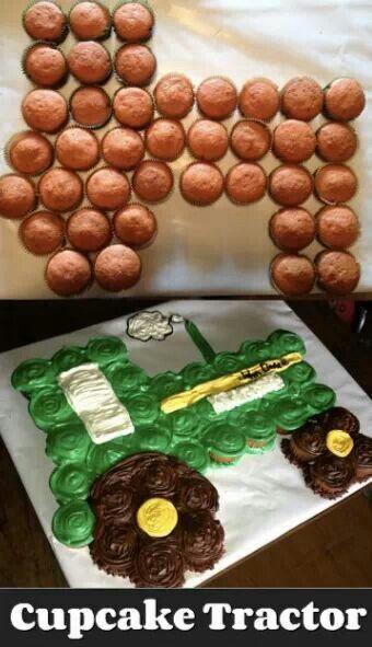 Tracker cupcake cake for the kiddos 3rd birthday!