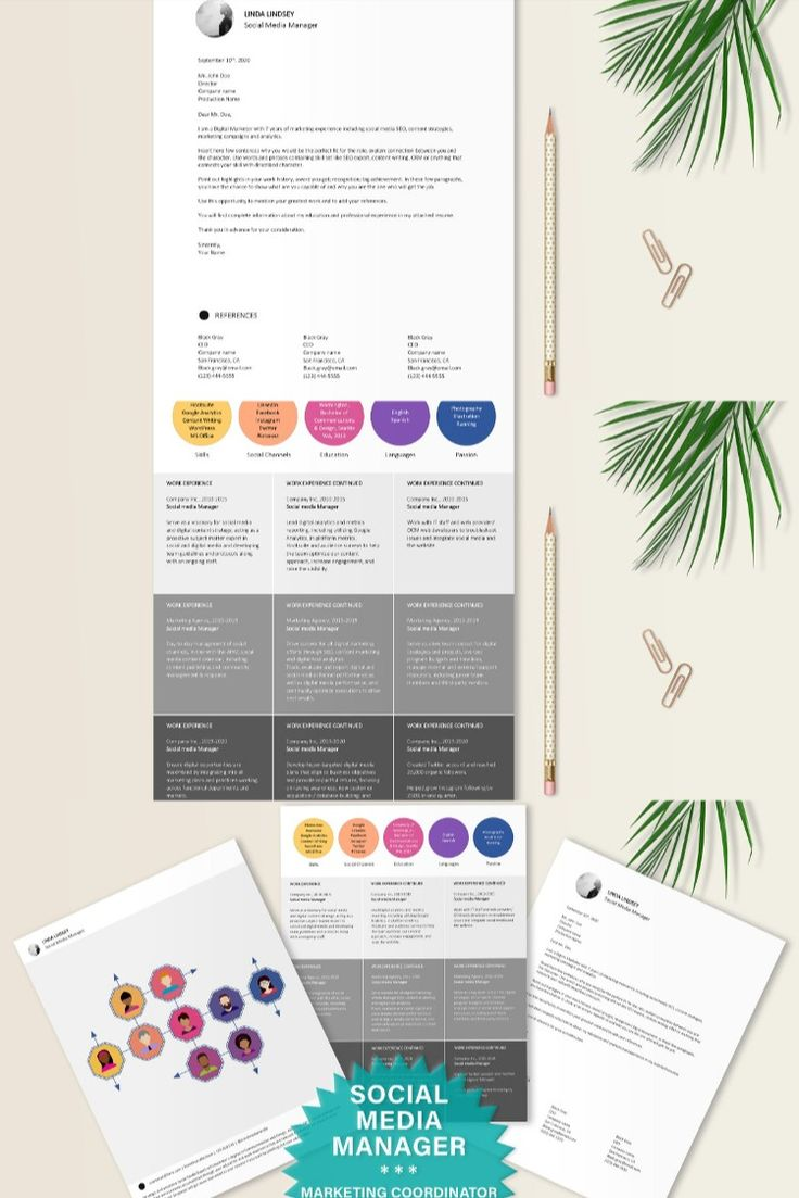 Social media manager resume template in 2020 cover