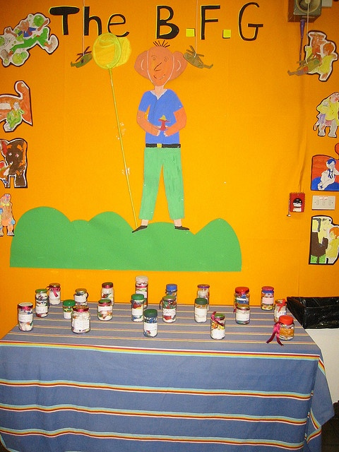 The jars were filled by the children. They also made the labels. Of course the bad dreams were the most interesting!