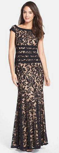Textured Lace Mermaid Gown from Nordstrom. #prom #lace #stunning