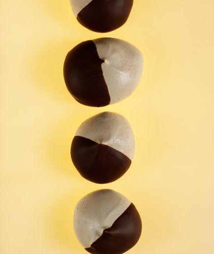 Chocolate-Dipped Espresso Meringues: These crisp coffee-flavored treats melt in your mouth.