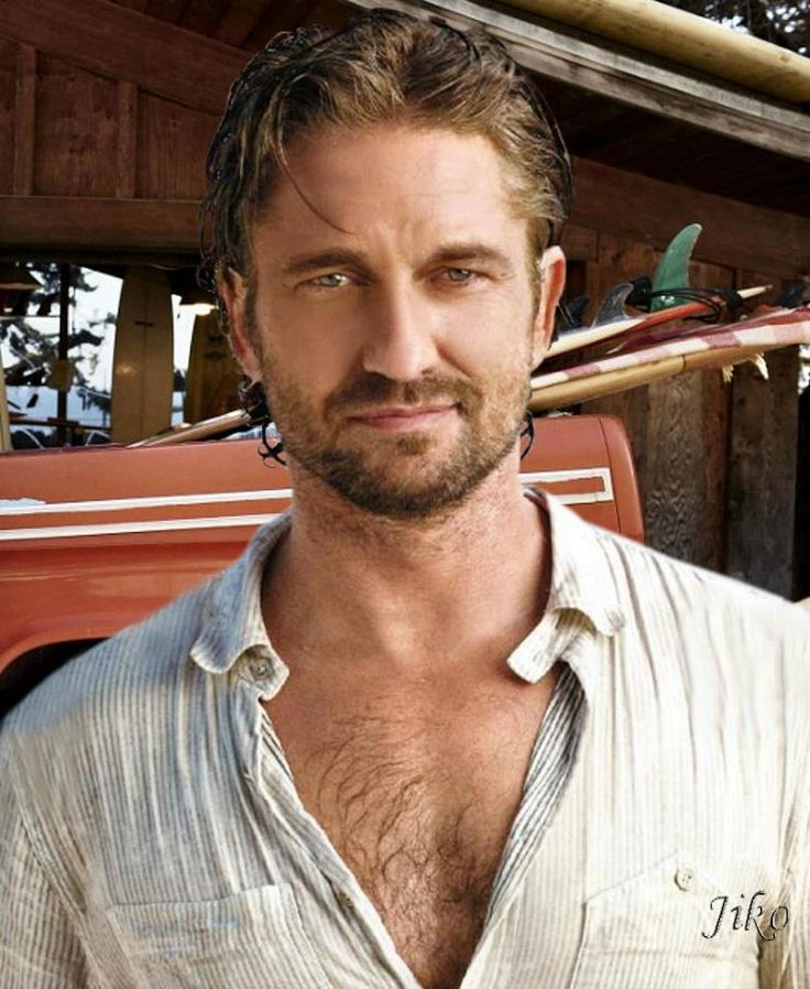 Gerard Butler______D'you know what ? Oh never mind, I can't put that in print anyway WOW.