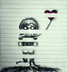 Resultado de imagen para dibujos a lapiz con frases tristes