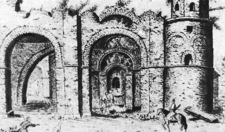 www.school.edu.ru :: Софийский собор в Киеве. 1017—1037. Собор в 1651 году. Рисунки А. ван Вестерфельда Киевская Русь
