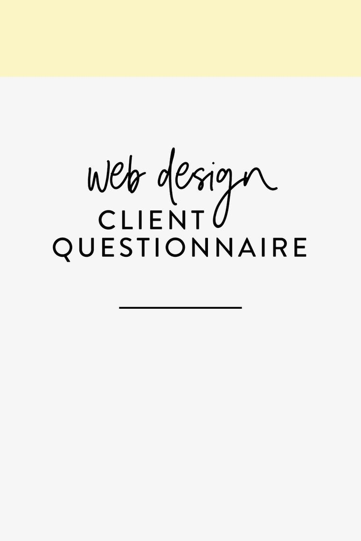 Client Questionnaire The Busy Bee Bee Busy Client Questionnaire In 2020 Client Questionnaire Web Design Quotes Web Design