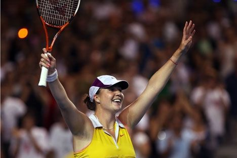 Alissa Kleibánova tornou-se atração do WTA de Moscou, encerrado no último domingo (20), ao avançar pela primeira vez para as quartas de final de um torneio desde que se curou de um linfoma de Hodgkin.