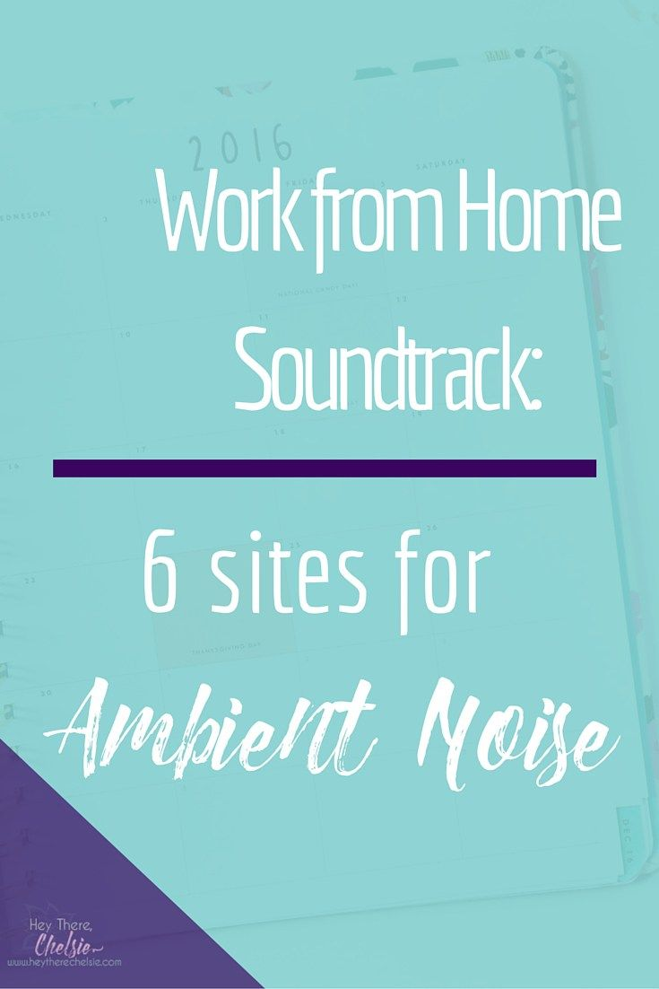 Work from home soundtrack: 6 sites for ambient noise to help you be more productive during your work day! It's proven that having a certain level of background noise can boost your productivity and I've rounded up 6 of my favorite sites that help fill your office with gentle and relaxing background noises! // www.heytherechelsie.com