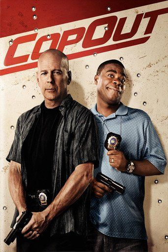 Cop Out (2010) | http://www.getgrandmovies.top/movies/20621-cop-out | Officers Jimmy Monroe and Paul Hodges have their weapons drawn on a gun-wielding killer. They agree to shoot on three. But, wait, does that mean 1…2… shoot or 1…2…3… then shoot? Punches hit hard and laughs hit harder (or is it the other way 'round?) when action star Bruce Willis and ace comic Tracy Morgan pair as bickering-but-got-your-back Brooklyn buddy cops. Kevin Smith (Clerks, Chasing Amy) directs the gritty…