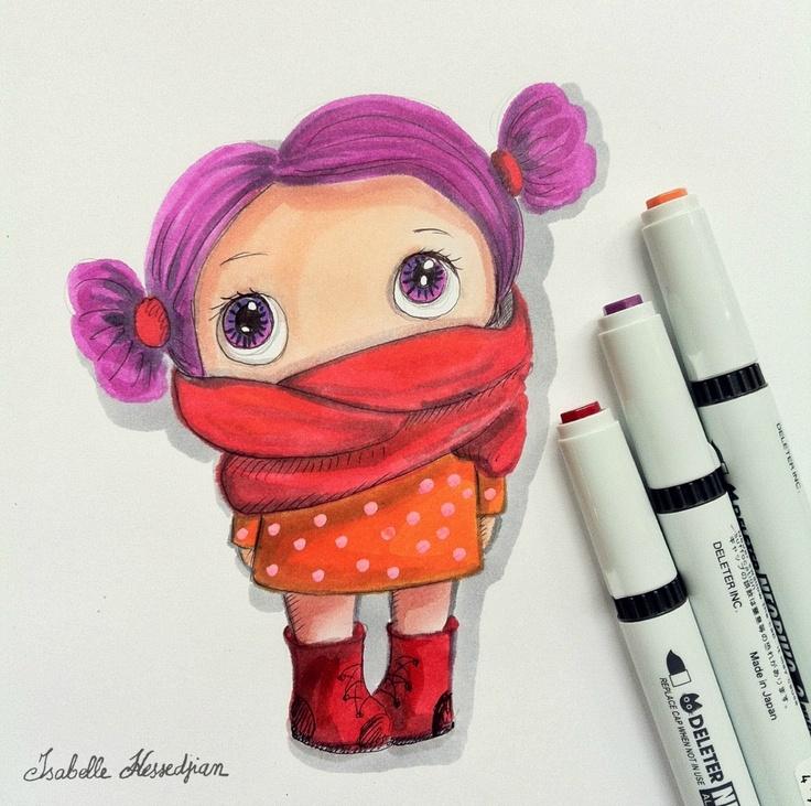 Isabelle Kessedjian: Dessin. Crayon/pinceaux Neopiko-2