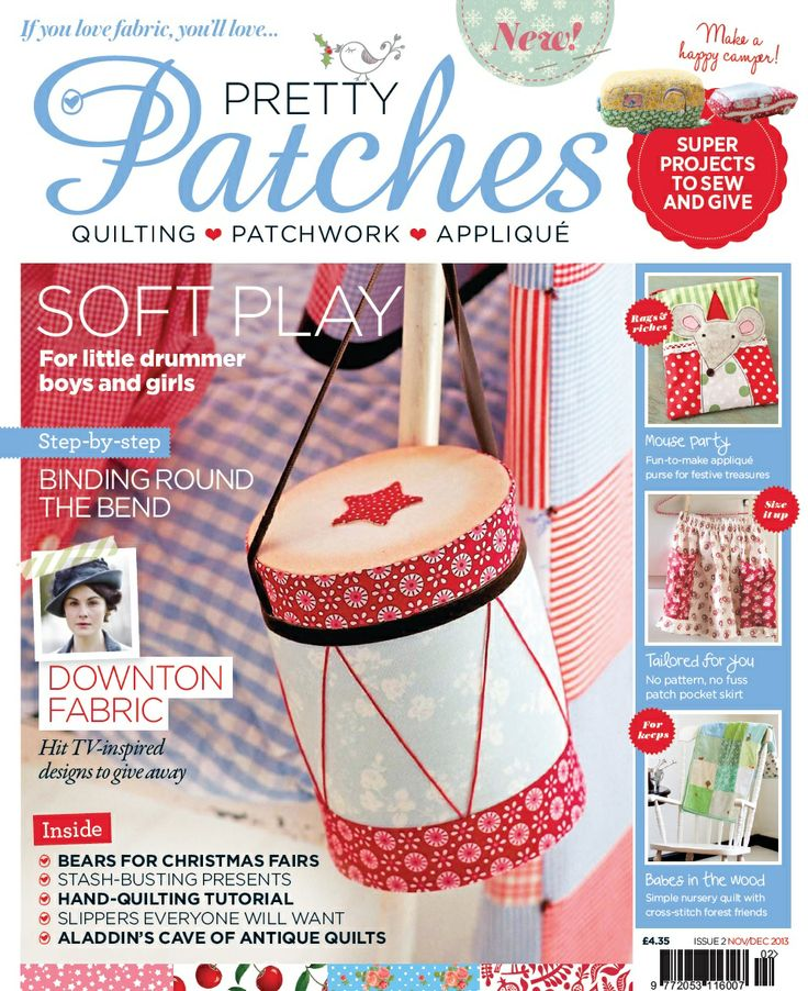 Issue 2 cover | Pretty Patches Magazine www.prettypatchesmagazine.com