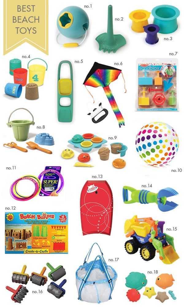 A roundup of the best beach toys for kids