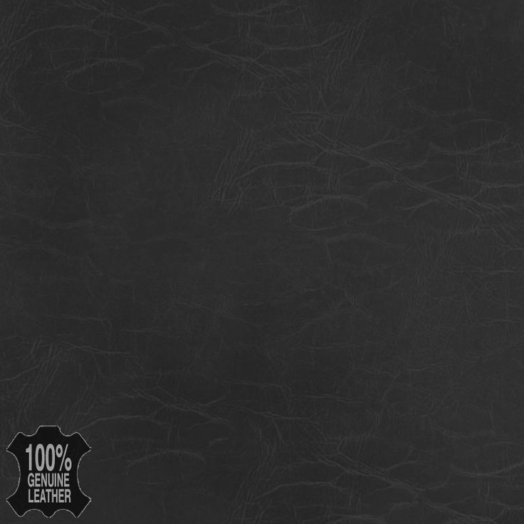Black Black Leather Grain Genuine Leather Upholstery Fabric