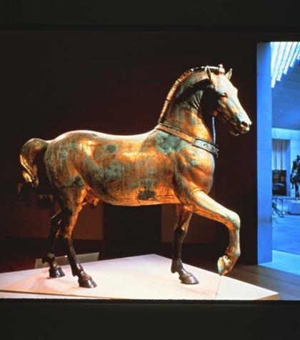 Horses of San Marco exhibit for Met. Jeff Daly Design.