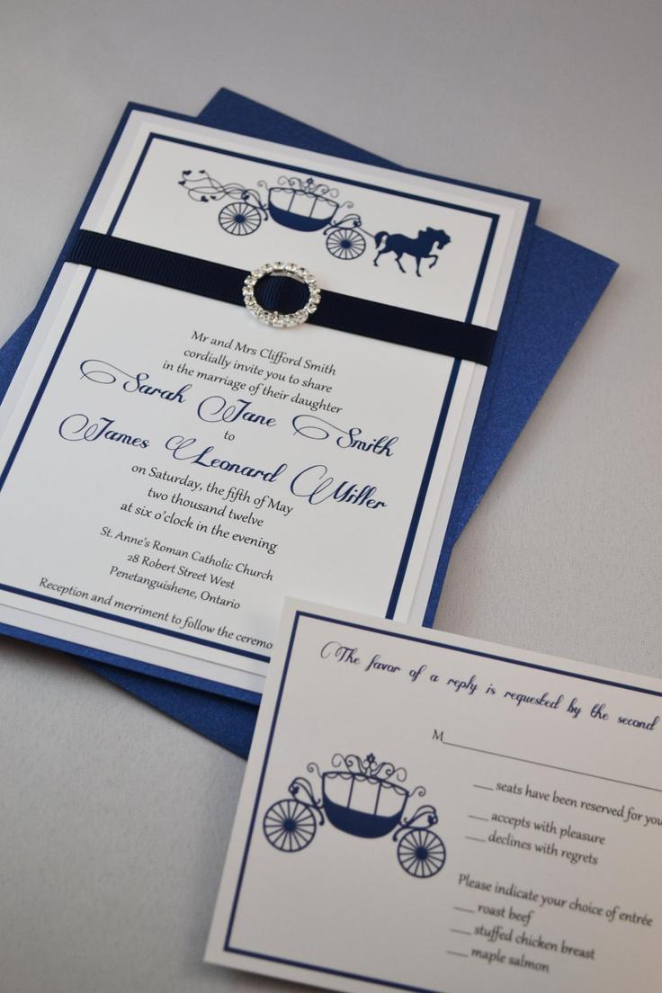 wedding invitations cinderella wedding invitations Printable PDF Fairytale Wedding Invitations for the DIY Bride 25 00 via Etsy